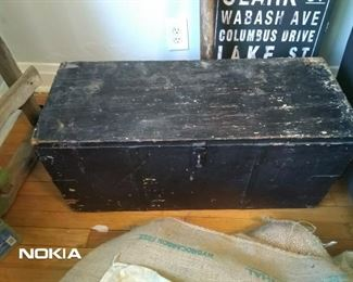 Fantastic Antique handmade wood workers tool box! Priced to sell!