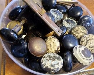 Antit door knobs, glass, metal, brass, copper even wood! Came from Fort SHERIDAN!