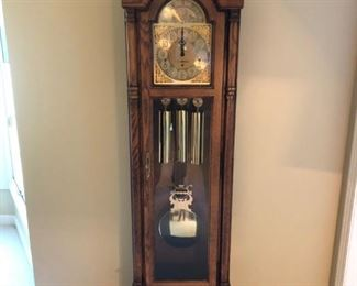 Howard Miller grandfather clock in excellent condition, listed at $750!