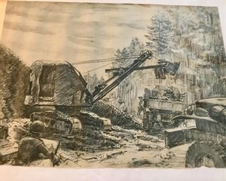 """Gravel Pit near Eupen - Belgium. 13 Oct 44 signed by S/Sgt Rudy Wedow"