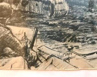 """Gravel Pit near Eupen - Belgium signed S/Sgt Rudy Wedow."