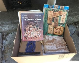 Vintage Tandy leather books