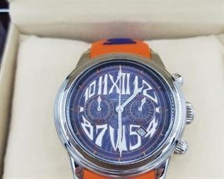 Officina del Tempo model 316L watch, with box (closeup)
