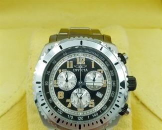 Invicta Specialty Collection Model 0616 chronographic watch, with box (closeup)