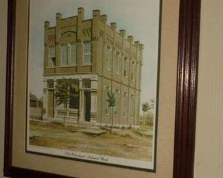 Matted framed Cleveland National Bank