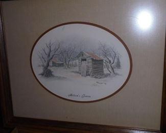 EH Burgess 'Melton's Farm'  1982  27x18