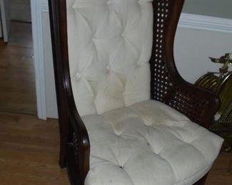 1 of 2 cane queen Anne chair