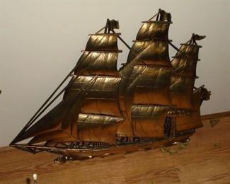 2 of 2 ship wall hangings