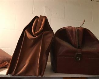 Leather briefcases.