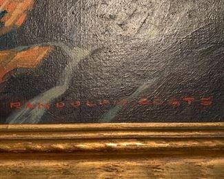 Randolph Coats painting