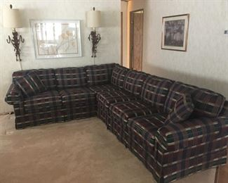 Plaid Sectional Sofa