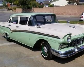 Classic 1957 Ford Fairlane Town Sedan-V-8, automatic,  Excellent original looking/redone interior