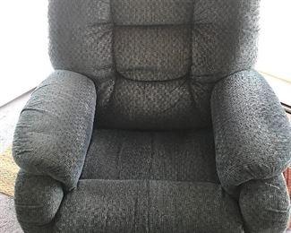 greyish blue lazboy chair