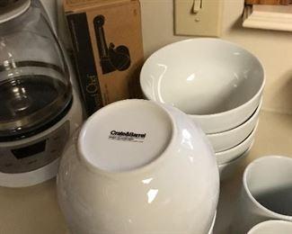 Crate and Barrel bowls