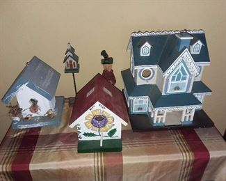 Birdhouse Collection (VICTORIAN BIRDHOUSE NOT AVAILABLE)