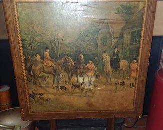 Antique Tilt Top Painted Table