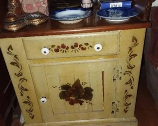 Painted Cabinet/End Table