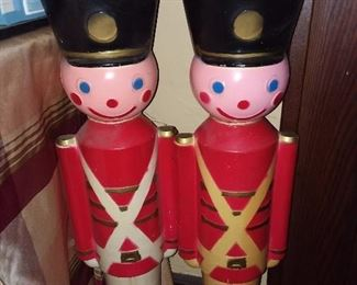 Vintage Toy Soldier Blow Molds