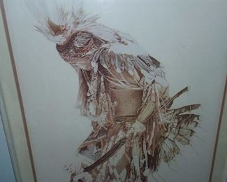 The Feather Dancer Autographed Print