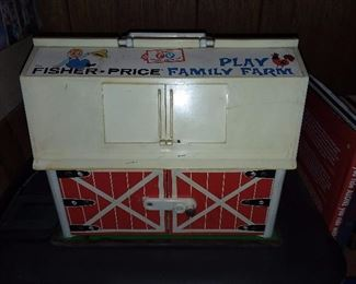 Vintage Fisher Price Family Farm Playset