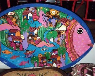 Handpainted Fish Plate