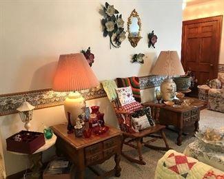 vintage oriental table lamps