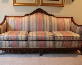 "Victorian mahogany sofa 72"" long by 32"" deep by 35"" tall $200"