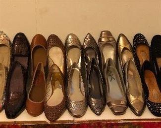 Ladies flats size 8 1/2 & 9