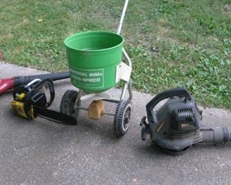 Electric Leaf Blower, Chain Saw, Seeder, Gas Leaf Blower