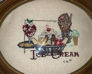 Cross stitch ice cream