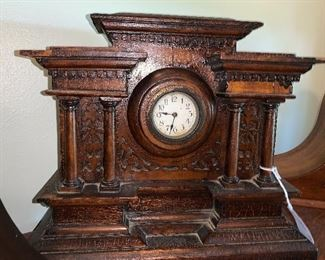Detailed mantel clock