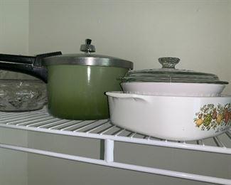 Corning Ware & Pressure cooker