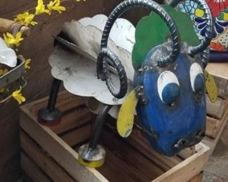 Recycled steel ram, cool crates