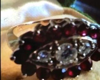 14k Gold Ruby &Diamonds.  $1500.