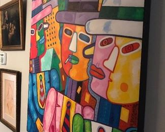 """Large Original signed     Art     $1500.     40 """"wide x 50 """"h  very bright colors !       Free Delivery 🚚"""