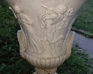 Outdoor Concrete Figural Urn (HUGE!)