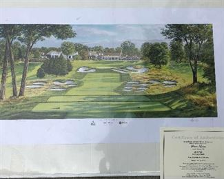 SIGNED ARTIST PROOF LITHOGRAPH # 101 U.S. OPEN BETHPAGE 101st US OPEN.  NOT A POSTER THAT WAS SOLD AT OPEN!!!