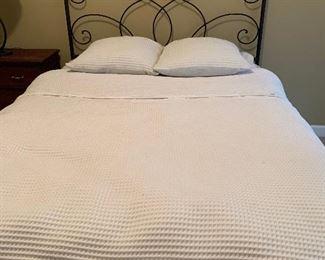 Queen Iron Bed - mattress not for sale