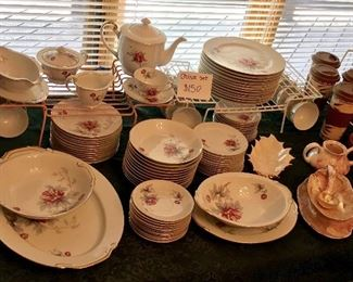 VERY NICE FLORAL CHINA SET