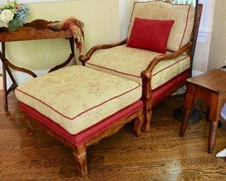 Custom lounge chair w/ ottoman