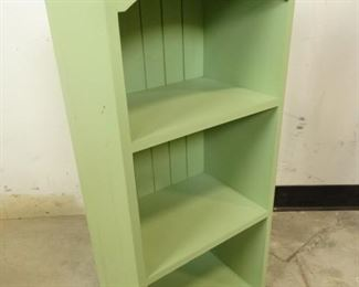 Green Wooden Shelves