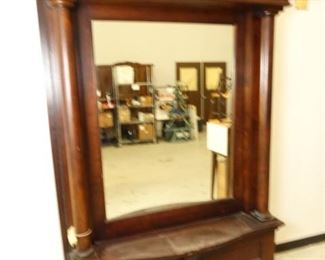 Antique Entryway Mirrored Bench
