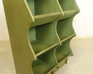 Green Cubby Shelves