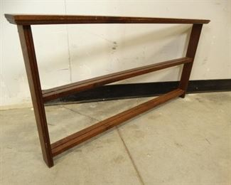Wooden Plate Shelf