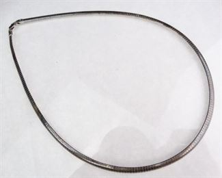 18 Sterling Silver Serpentine Link Necklace