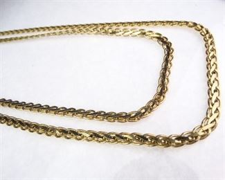 GoldColored Curb Link Necklace