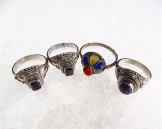 Sterling Fashion Rings