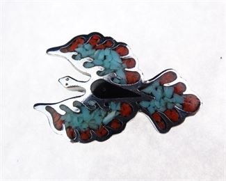 Blue Red Phoenix Pendant
