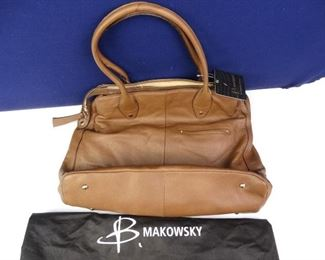 B Makowsky Brand Large, Luxury, Genuine Leather Purse