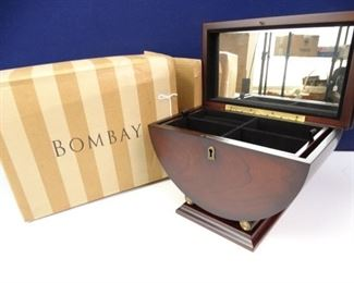 Elegant, Dark Wood Emerson Jewelry Box by Bombay